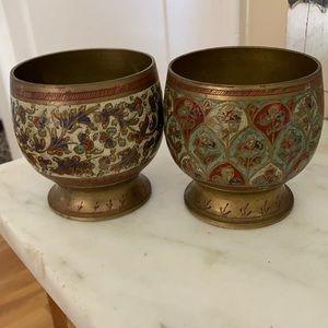Vintage 1968 Brass Cups